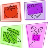 Gemüseikonen Lizenzfreie Stockfotos