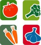 Gemüseikonen-Satz Stockbild