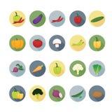 Gemüseikonensätze stock abbildung