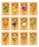 Gemüsekartensatz Stockbild