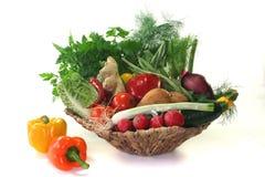Gemüsekorb lizenzfreie stockfotos