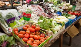 Gemüsemarkt in Großbritannien lizenzfreies stockbild