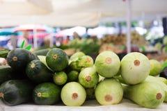 Gemüsemarktstall Stockbild