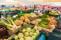 Gemüsemarktstall Stockbilder