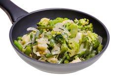 Gemüsemischung in der Wanne Stockfoto