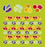 Gemüsemuster lizenzfreie abbildung