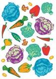 Gemüsemuster Stockbilder