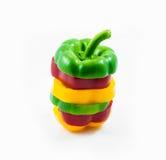 Gemüsepaprikas geschnitten stockfoto
