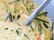 Gemüsepfannkuchenmischung (koreanisch) Lizenzfreie Stockfotografie
