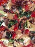 Gemüsepizza Lizenzfreies Stockbild