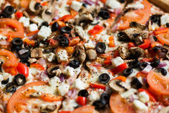 Gemüsepizza Stockbild