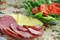 Gemüsesalat auf dem Tisch Stockfotos