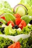 Gemüsesalat bowl> Vollkost Stockfoto