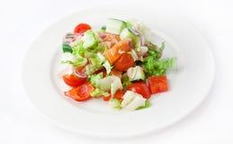 Gemüsesalat mit Lachsen Stockbilder