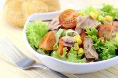 Gemüsesalat mit Thunfisch Lizenzfreie Stockfotos