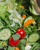 Gemüsesalatabschluß oben Stockbilder