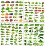 Gemüsesammlung auf weißem Hintergrund Stockbilder
