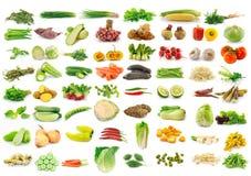 Gemüsesammlung lokalisiert auf einem Weiß Stockbilder