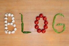 Gemüseschreiben: Blog Lizenzfreie Stockfotos