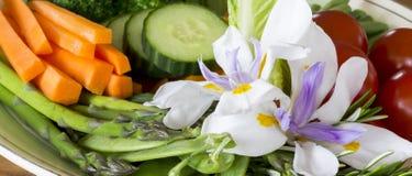 Gemüseservierplatte Stockbilder