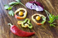 Gemüsesmiley Stockfoto