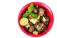 Gemüsesoße mit Aubergine und Paprika Stockfoto
