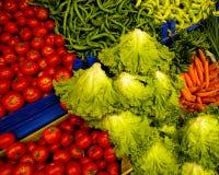 Gemüsestandplatz Stockfoto