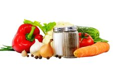 Gemüsestillleben stockbilder
