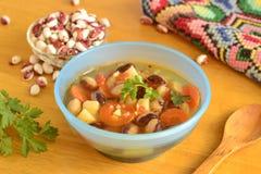 Gemüsesuppe mit Bohnen Lizenzfreie Stockbilder