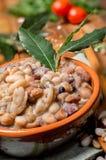 Gemüsesuppe mit Getreide und Hülsenfrüchte lizenzfreies stockbild