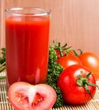 Gemüsetomate Juice Indicates Refreshment Drinking And durstig lizenzfreies stockfoto