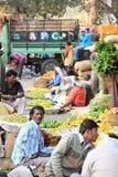 Gemüsewarenmarktszene Indien Stockfoto