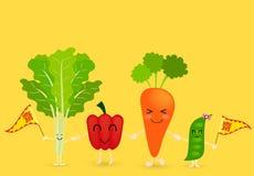 Gemüsezeichentrickfilm-figur Lizenzfreies Stockbild