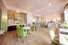 Gemütliche Halle im Café Anderson Lizenzfreies Stockbild