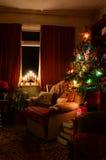 Gemütliche Innenweihnachtsszene Lizenzfreies Stockbild