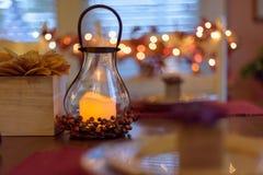 Gemütlicher Autumn Tabletop Stockfotografie