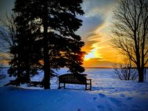 Gemütlicher Winterabend stockfotografie