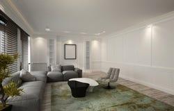 Gemütliches belichtetes Luxuswohnzimmer oder Höhle vektor abbildung