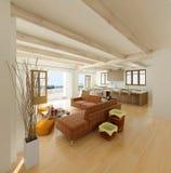 Gemütliches Wohnzimmer lizenzfreie abbildung