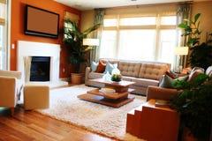 Gemütliches Wohnzimmer stockbilder