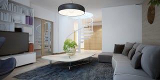 Gemütliches Wohnzimmerdesign Stockfotos