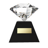 Gem Award. 3d rendering with hand draw clipping path royalty free illustration