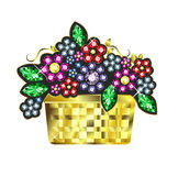 Gem Baskets Of Flowers Photo stock