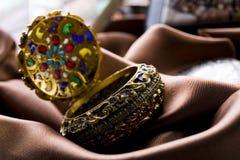 Gem box. Old fashioned object (Gemstones - Jewels stock photos