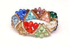 Gem bracelet. Bracelet with colorful crystal stones royalty free stock images