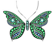 Gem Butterfly Image stock