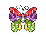 Gem butterfly. Illustration of a gem butterfly with beautiful and colorful wings vector illustration