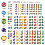 Gem buttons Stock Photography