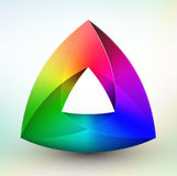Gem color wheel. On white background in eps 10 format royalty free illustration