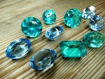 Gem crystals sapphire diamonds jewel Royalty Free Stock Images